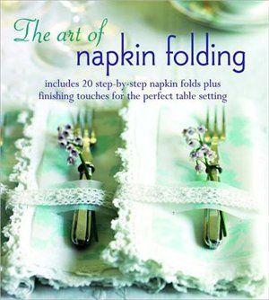 """""""The Art of Napkin Folding."""" I want a stylish table for the holidays! #MagicalHoliday #indigo"""