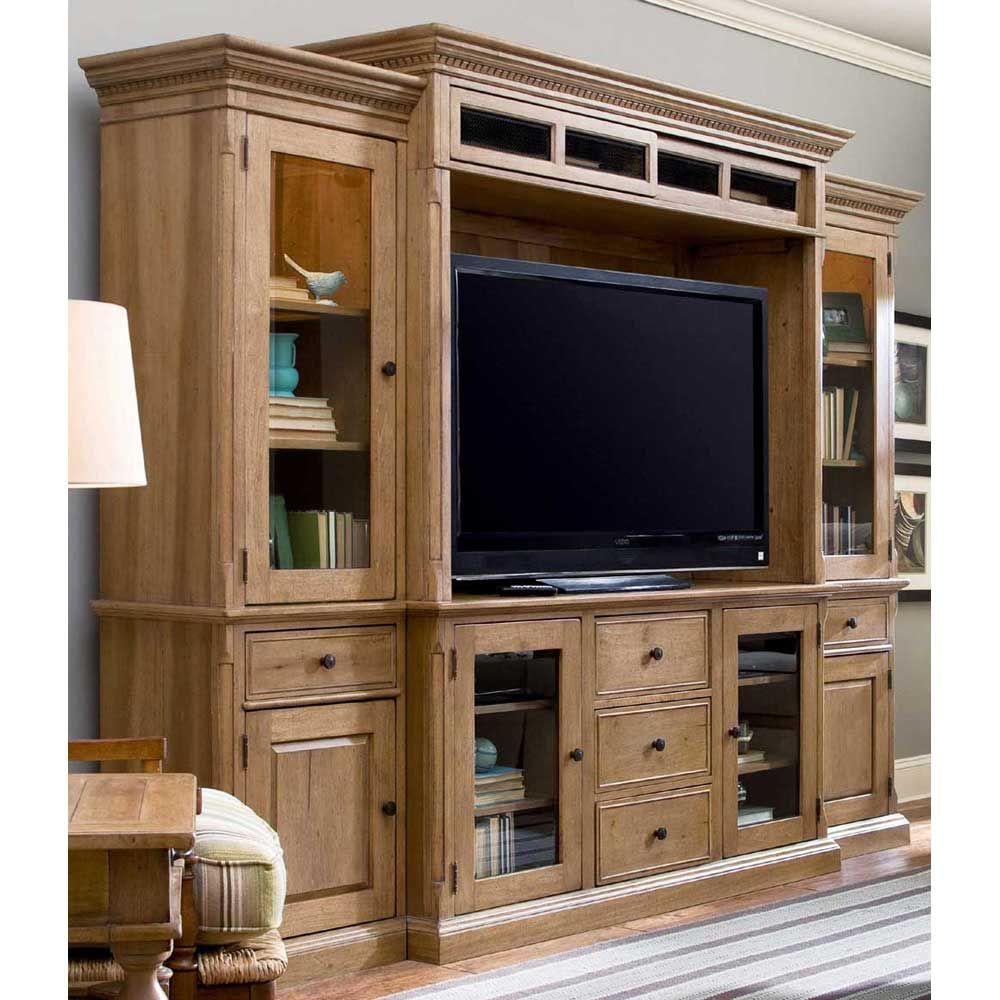 Paula Deen Down Home Entertainment Wall Unit in Oatmeal Finish UF