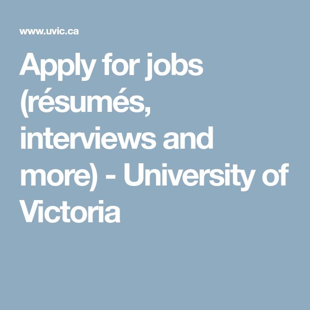 Apply For Jobs (résumés, Interviews And More)