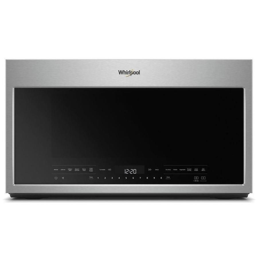 Whirlpool 2 1 Cu Ft Over The Range Microwave With Sensor Cooking Controls Fingerprint Resistan With Images Over The Range Microwaves Range Microwave Convection Microwaves