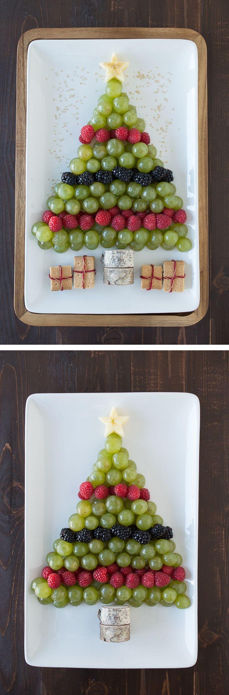 Christmas Tree Fruit Platter.Create A Healthy Fruit Platter For Christmas In The Shape Of