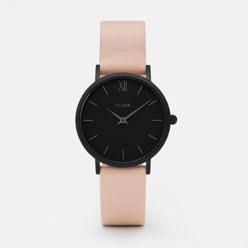 dbe987d612f CLUSE Minuit Black Black Nude CL30027 Relógios Pulseira