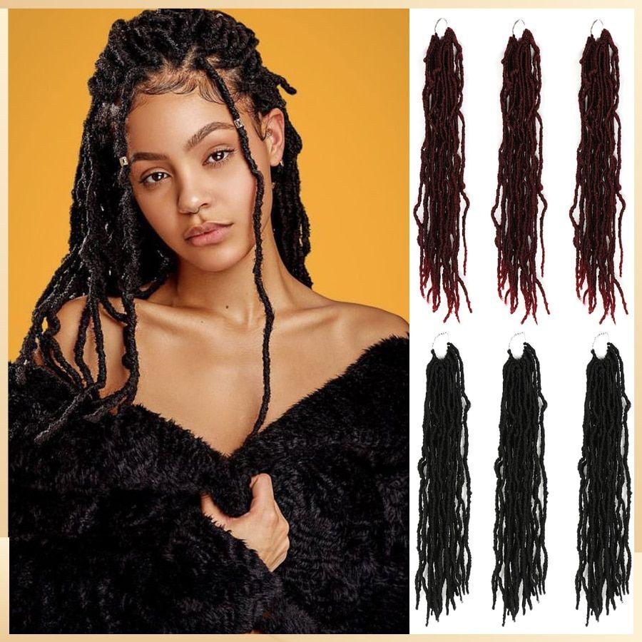 Dreadlocks Hair Extensions For African Braids African Style Synthetic Braiding Crochet Hair Extension In 2020 African Braids Crochet Hair Extensions Dreadlocks
