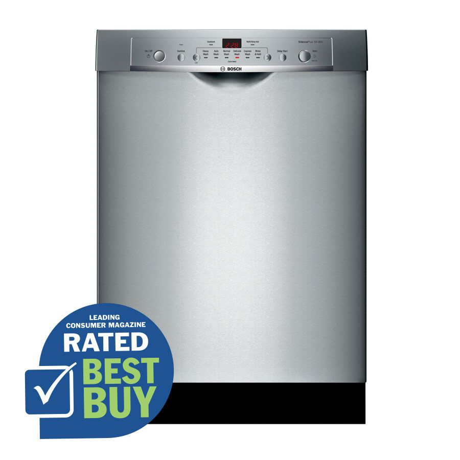 Shop Bosch Ascenta 50 Decibel Built In Dishwasher With Stainless Steel Tub With Polypropylene Bottom Sta Built In Dishwasher Steel Tub Lowes Home Improvements