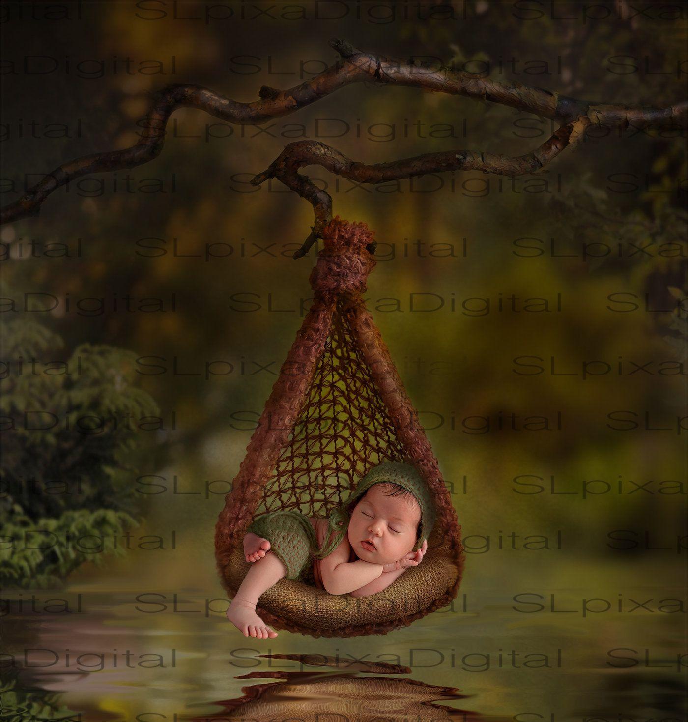 Digital background Newborn digital backdrop Magic forest