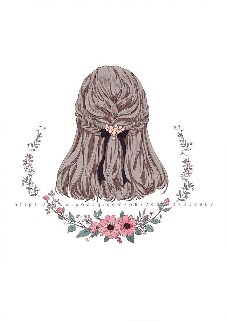 发型插画_一口一个小甜饼__插画师作品_涂鸦王国gracg.com