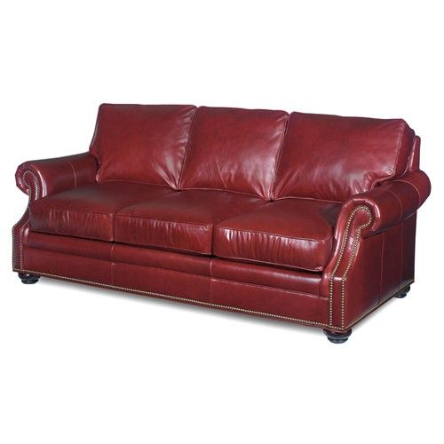 Leather Furniture Stores In Miami Fl: Warner Stationary Sofa With Turned Wood Feet By Bradington