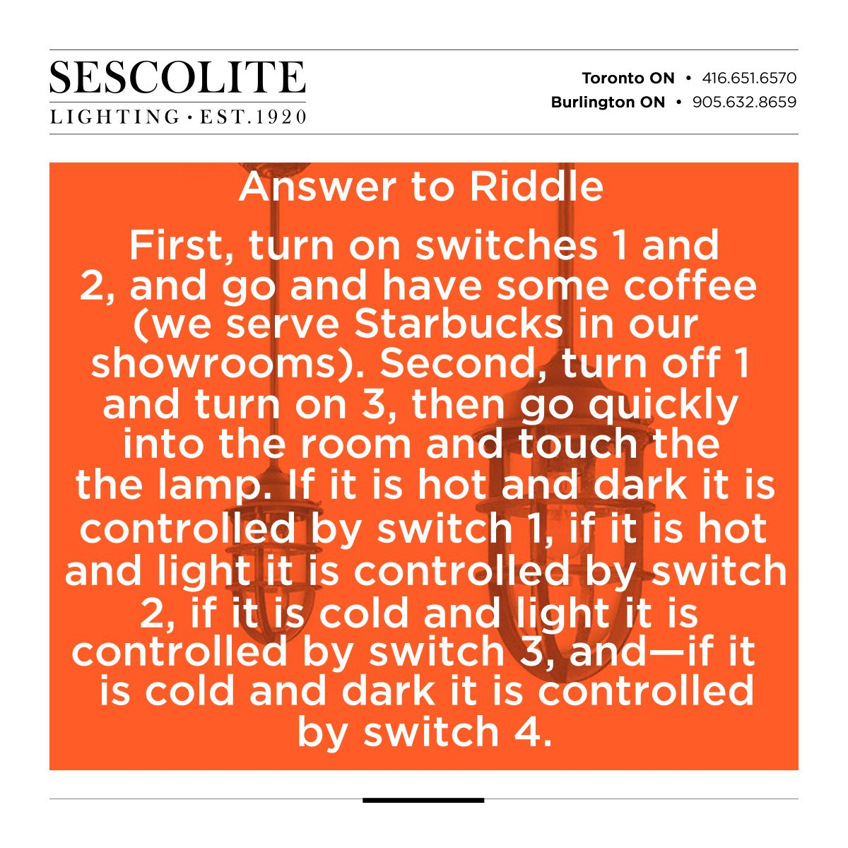 for those of you craving the answer to the 4 light bulb riddlefor those of you craving the answer to the 4 light bulb riddle here\u0027s the two