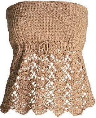 Strapless Dress Crochet Free Graphic - Crochet Designs And ...
