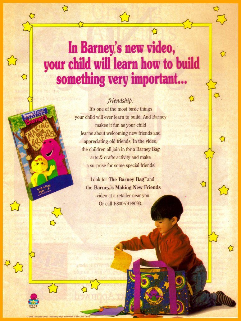 barney u0027s making new friends video promo ad by bestbarneyfan on