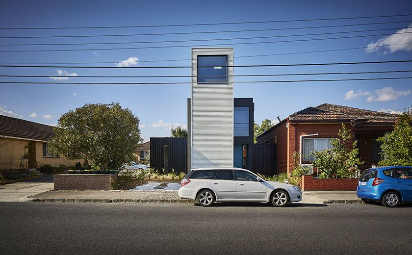 Modular Tower Houseu0027s Lofty Design Makes A Statement In Sleepy Suburb