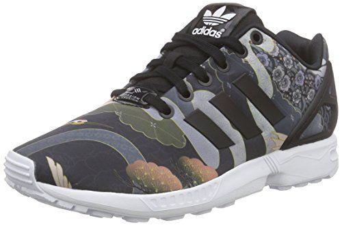 adidas Damen ZX Flux Sneakers, Schwarz (Core Black/Core Black/Ftwr White