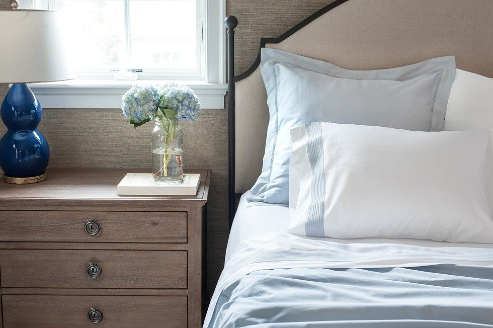 3 Ways To Style A Heavenly Bed: Stack Throw Pillows When Not In Use.