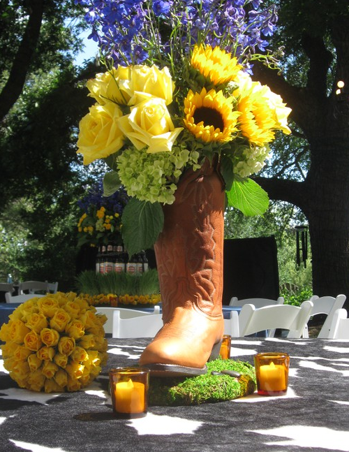 Cowboy Boot Centerpiece Who Needs A Vase When You Have