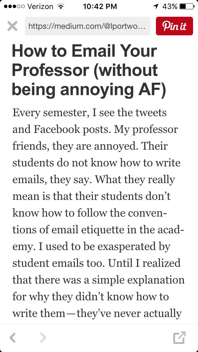 How To Email Your Professor Without Being Annoying Af School Study Tips Life Hacks For School Study Tips College