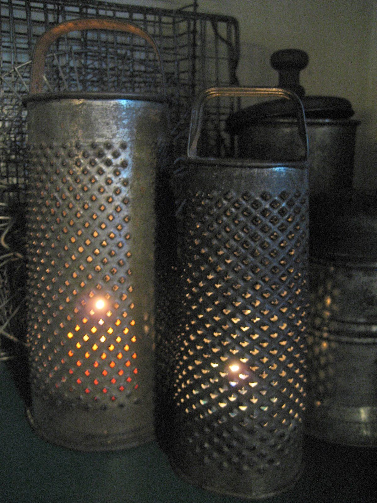 grater candleholders