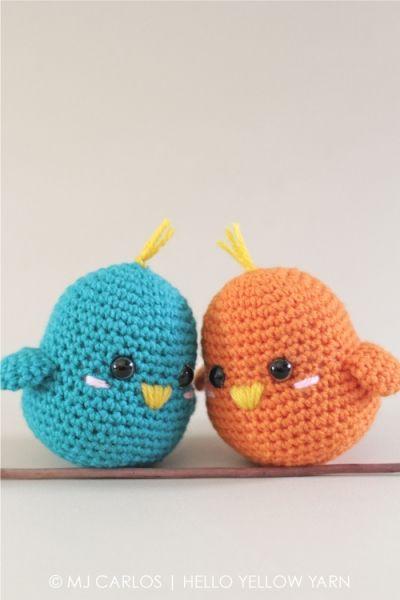 Download Lovebirds Amigurumi Pattern (FREE)   Amigurumi   Pinterest ...