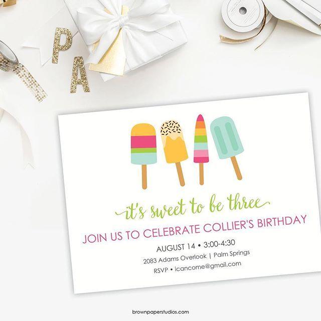 summer birthday invitation we can have printed invitations