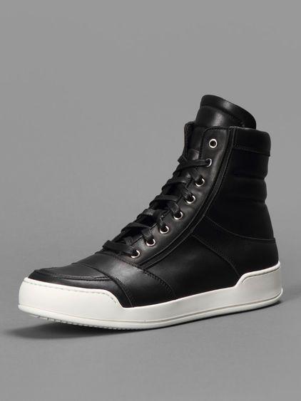 4415bc42536 Balmain high top sneakers basket with side zip closure #balmain ...