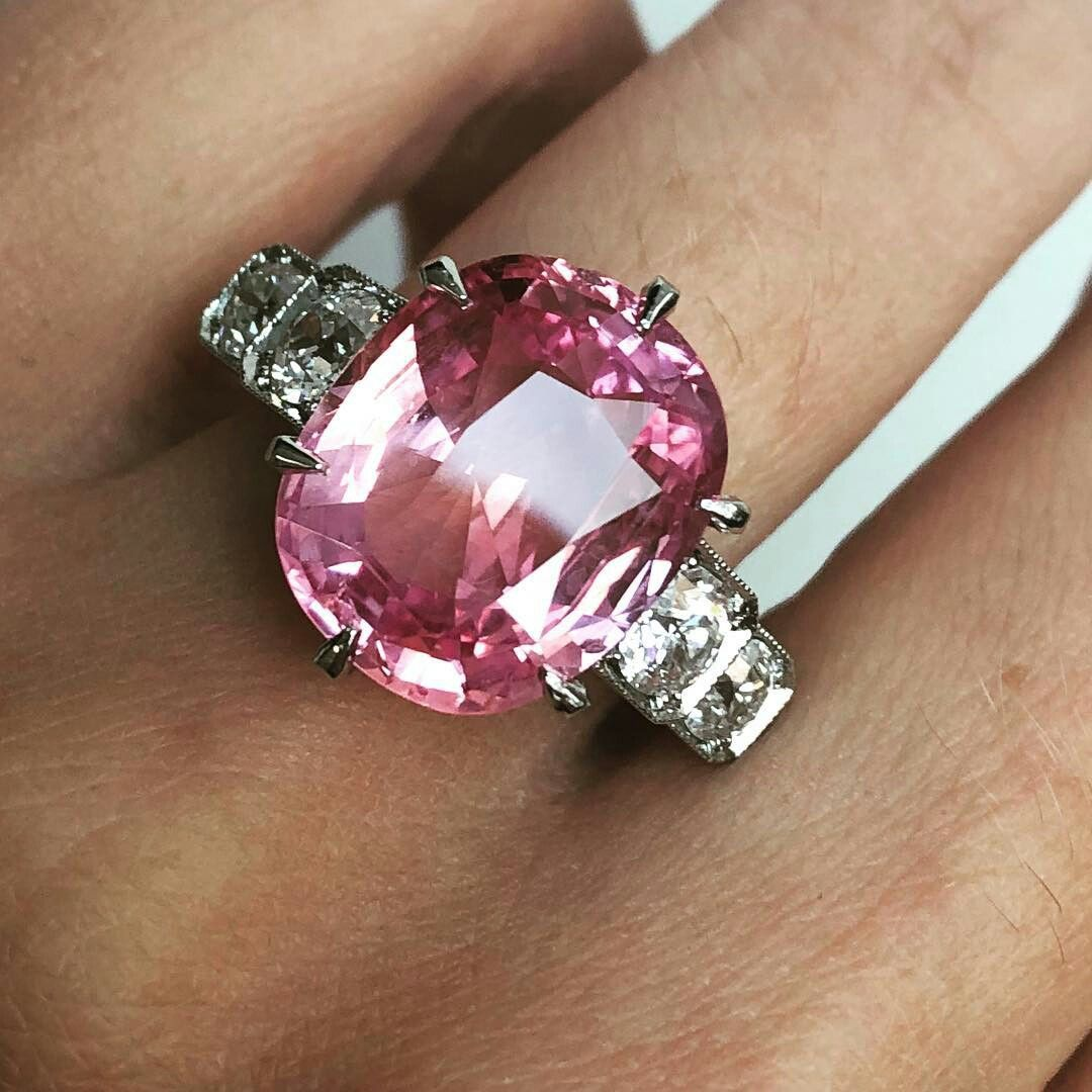 We love the blush hues in this carat padparadscha sapphire and
