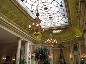 for hallway ceiling (Frosted Glass Ceiling Ritz London)