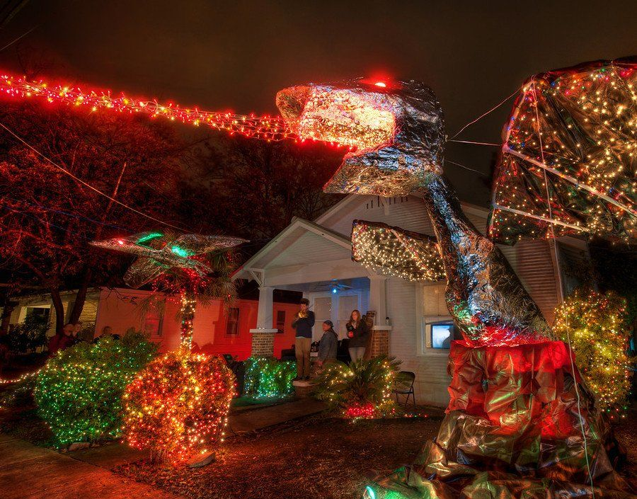 Christmas Lights On 37th Street In Austin Definitely A Must See Street During December Christmas Dragon Cosy Christmas Christmas Lights