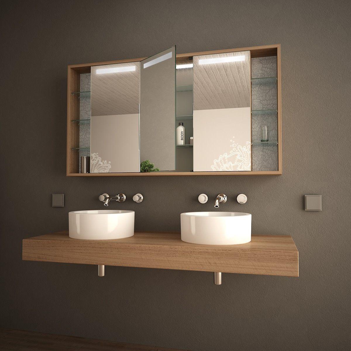 Bad-Spiegelschrank mit Licht Arida | Haus | Pinterest