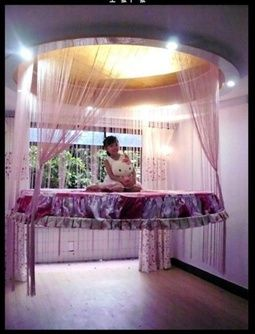 Floating Bed Could Do This For A Boy To Cool And Fun Idea Gives More Play Room On The Floor And Also Doesn T Cr Cool Bunk Beds Girls Bunk Beds Floating