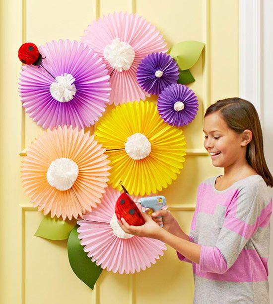 Cover Your Door With Paper Flowers Spring Door Decoration Door Decorations Door Decorations Classroom