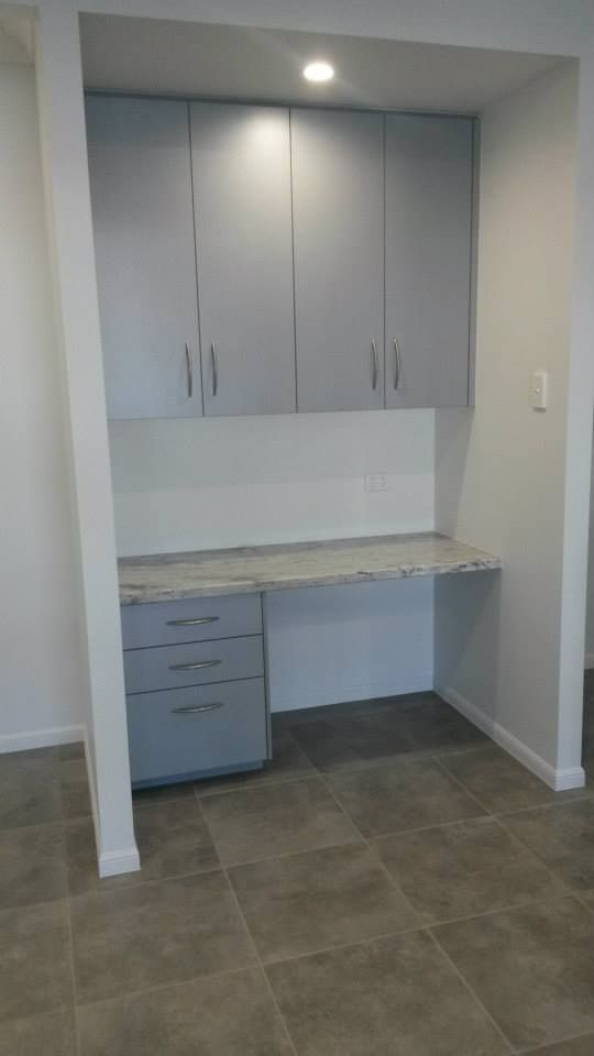 Built In Study Desk With Granite Bench Top And Built In Storage In The Living Area In Townsville Queensland Gradyhomes Built In Storage Home New Homes