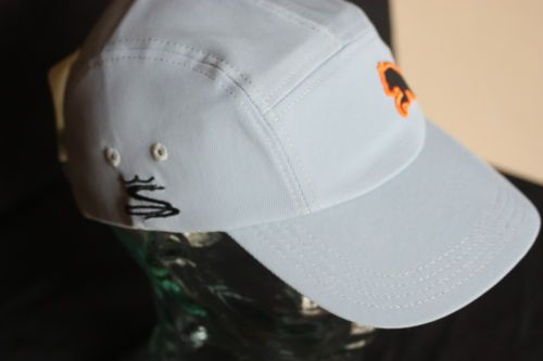5d426b2108b PUMA-COBRA-GRAY-ORANGE-BLACK-5-PANEL-GOLF-CAP-QUIET-VELCRO-ADJUSTABLE