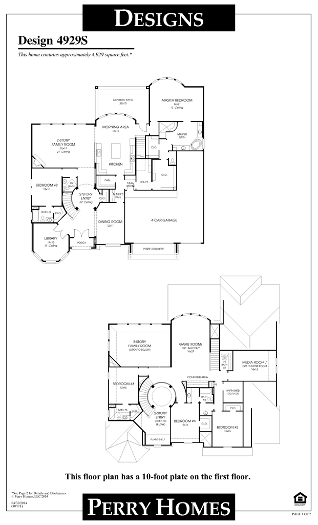 perry homes floor plan for 4929s | floor plans | pinterest