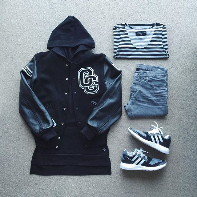 WEBSTA @ johnjunglee - Team Blvck out | #outfitgrid▪️#openingceremony varsity…