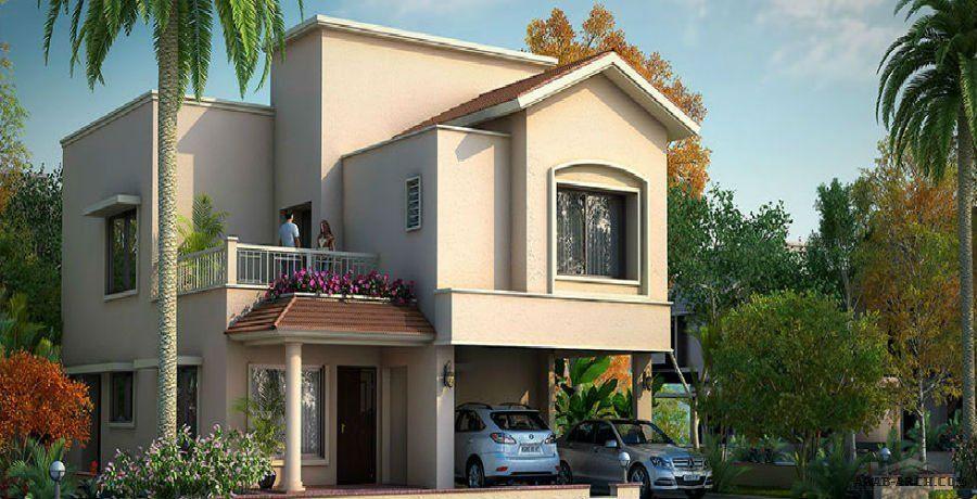 تصاميم ومساقط فيلا مودرن 4 غرف نوم House Styles House Elevation House