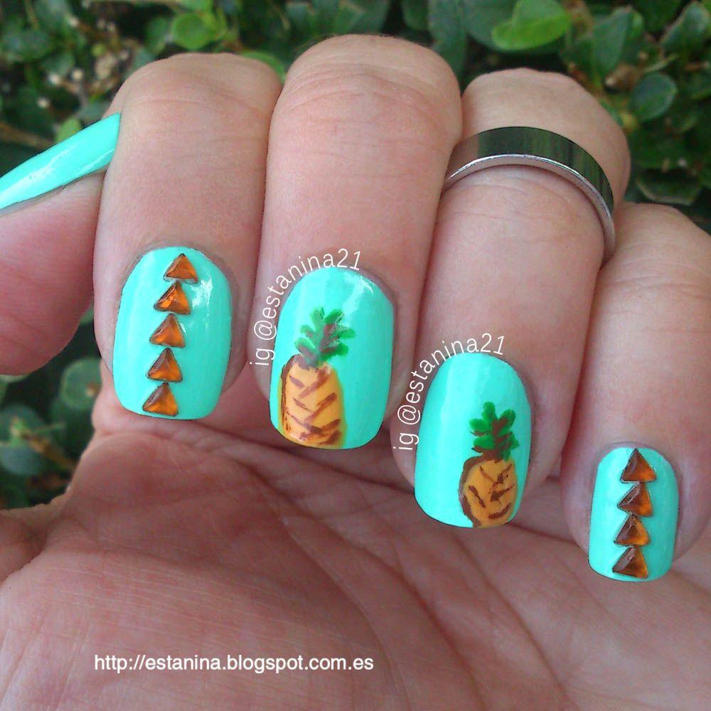 Las uñas de niña me saben a piña! | My nails ... Mis uñas ...