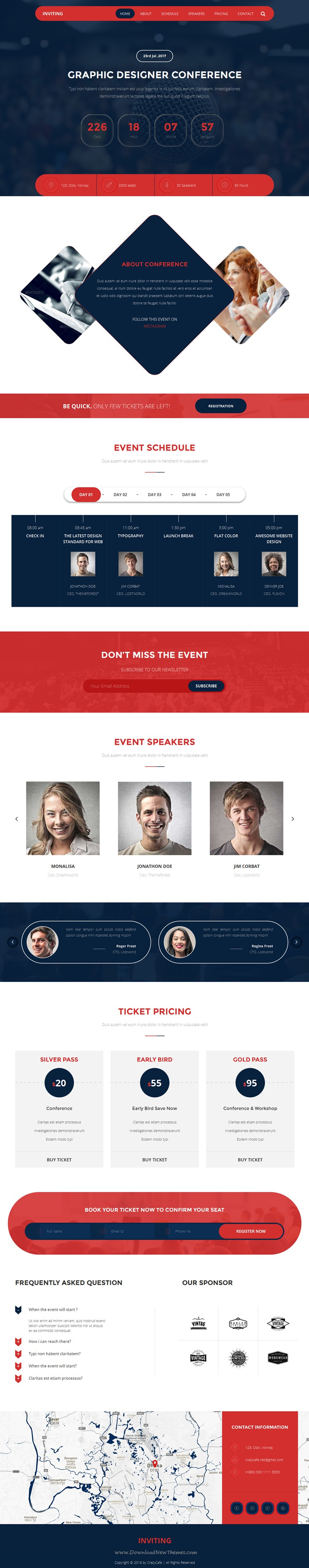 Inviting  Event  Conference Html Template  Template Website