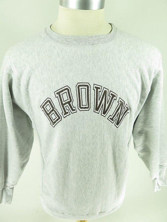 ffc4513cdba7 Vtg 80s Brown University Champion Reverse Weave Sweatshirt XL Triblend   shelf G10A 1lb 7oz