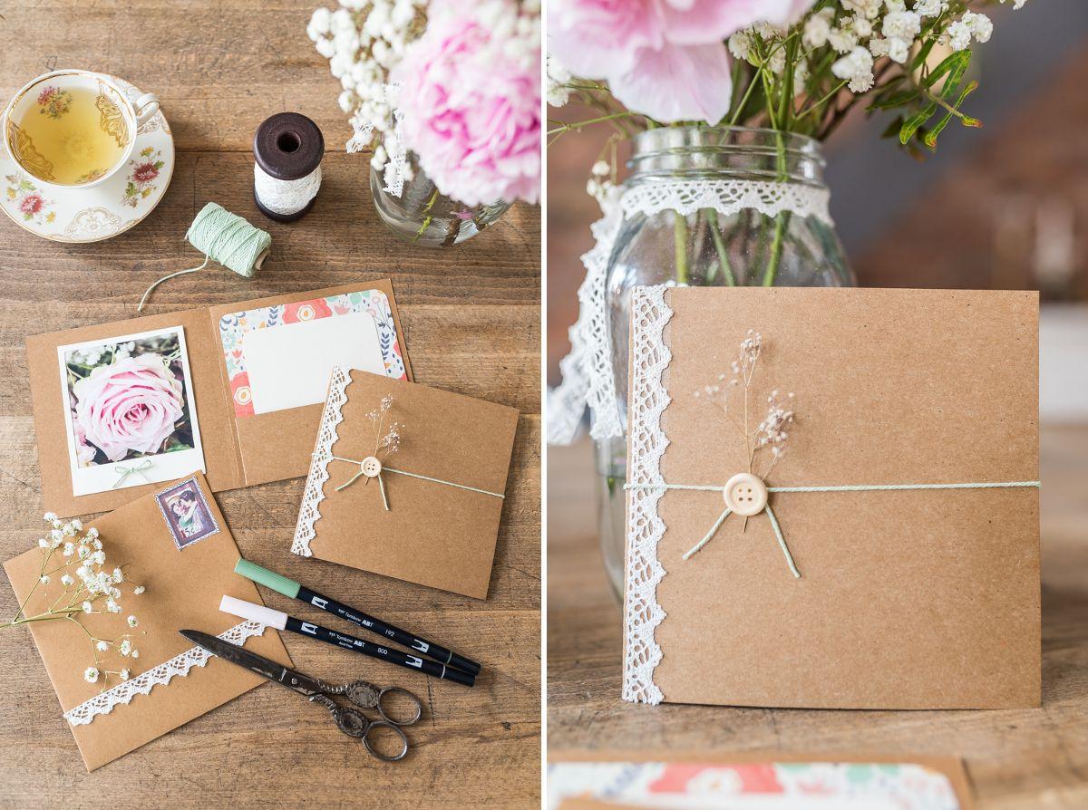 3 diy ideas for a vintage look wedding | einladungskarten