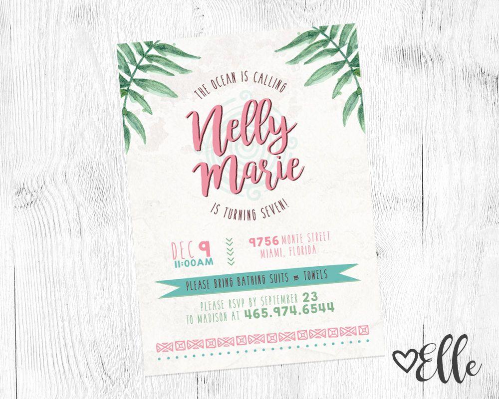 Moana Inspired Invitation | Moana| Digital Design | Customizable ...