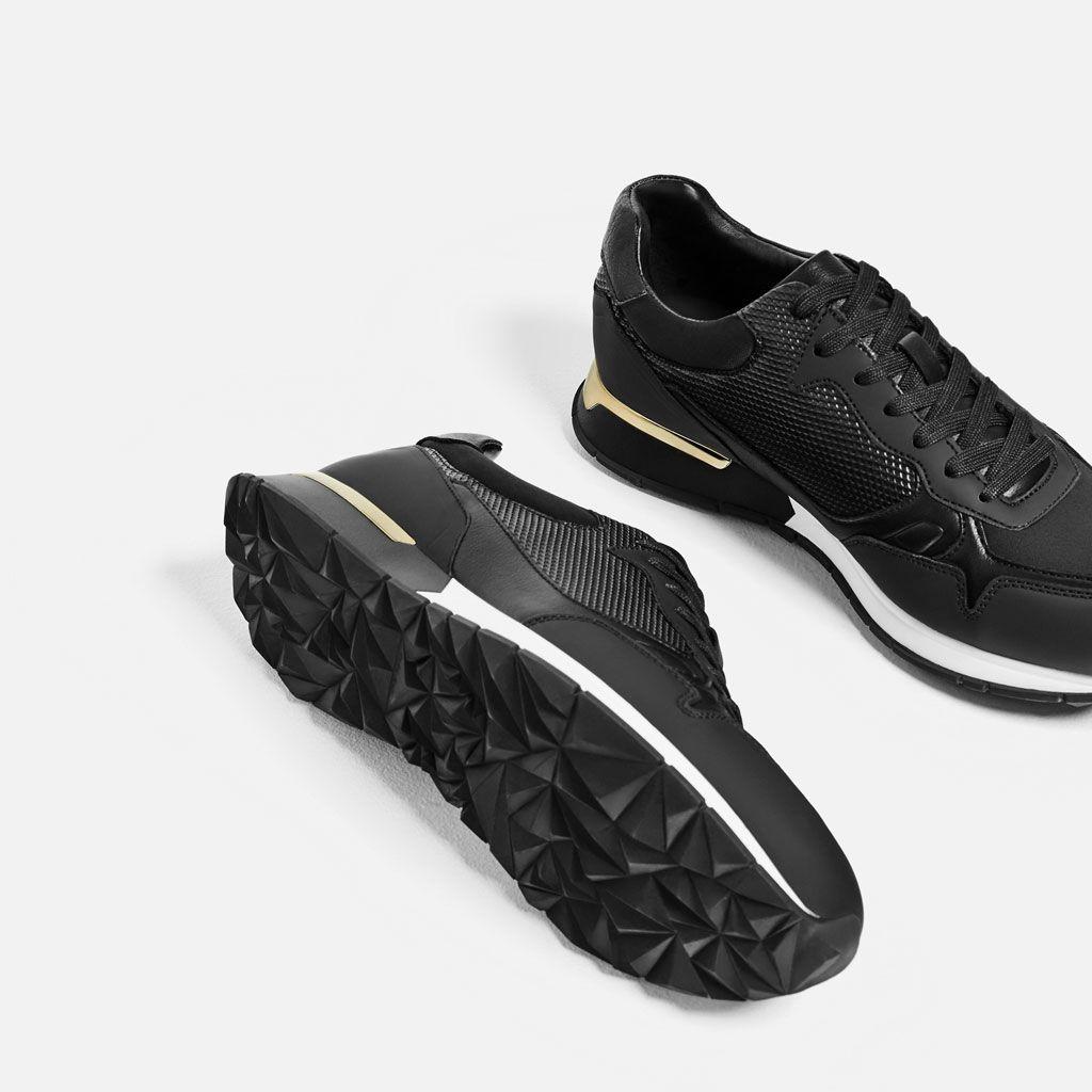 tienda de liquidación muy genial llega ZARA - MAN - SILVER DETAIL SNEAKERS | Mens style | Zapatos ...