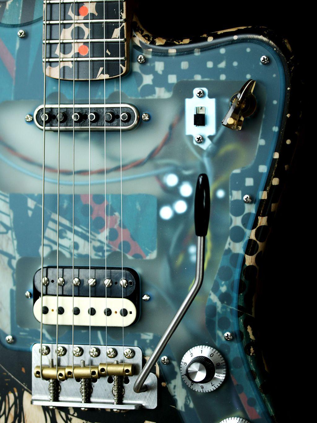 Deimel Firestar Artist Edition Berlin Tonight Art By Kora Junger Guitar Design Guitar Cool Guitar
