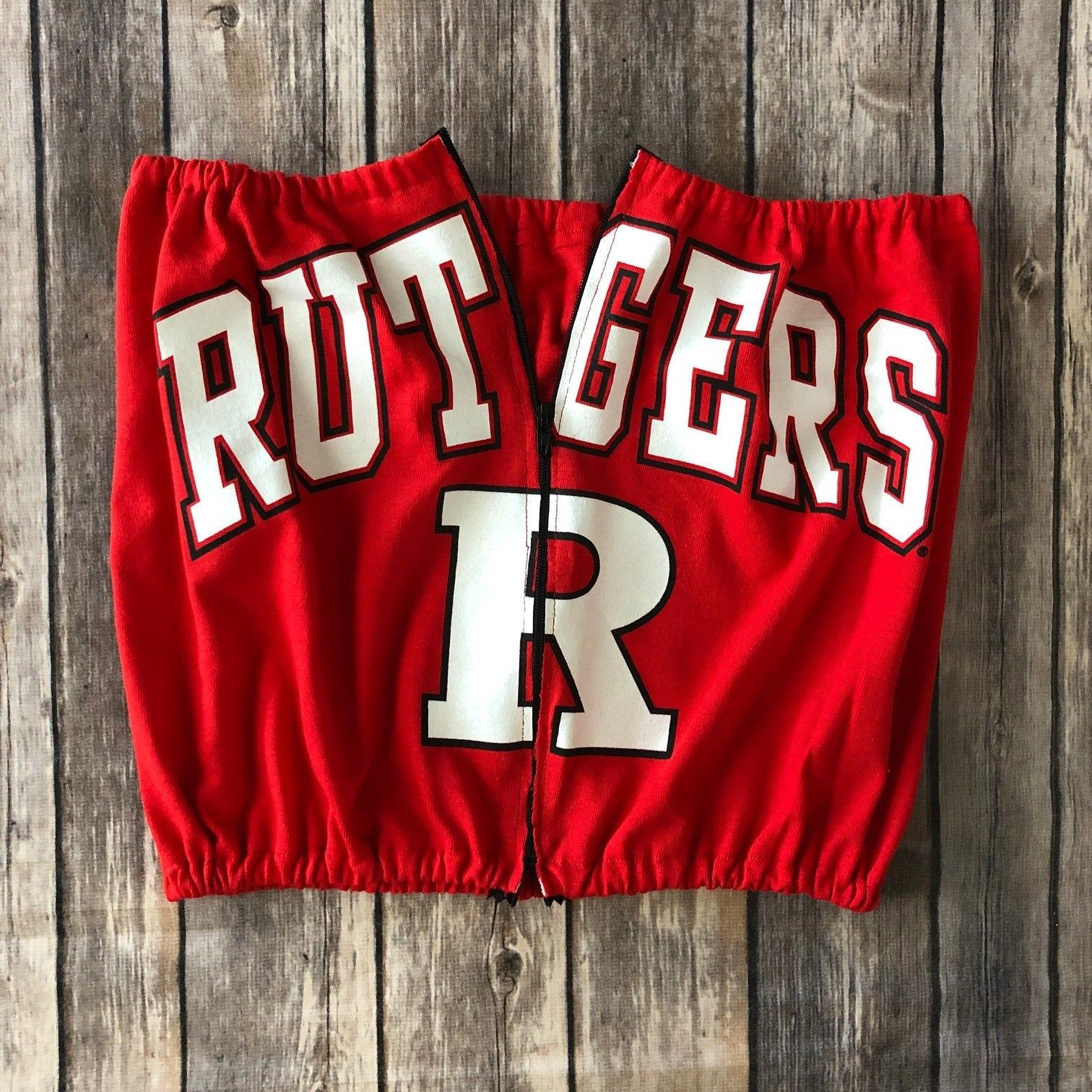 Sample Sale Rutgers Scarlet Knights Zipper Tube Top Womens Tailgate Shirt Cute Game Day Top College Tube Tailgate Shirt Gameday Outfit Tailgate Outfit