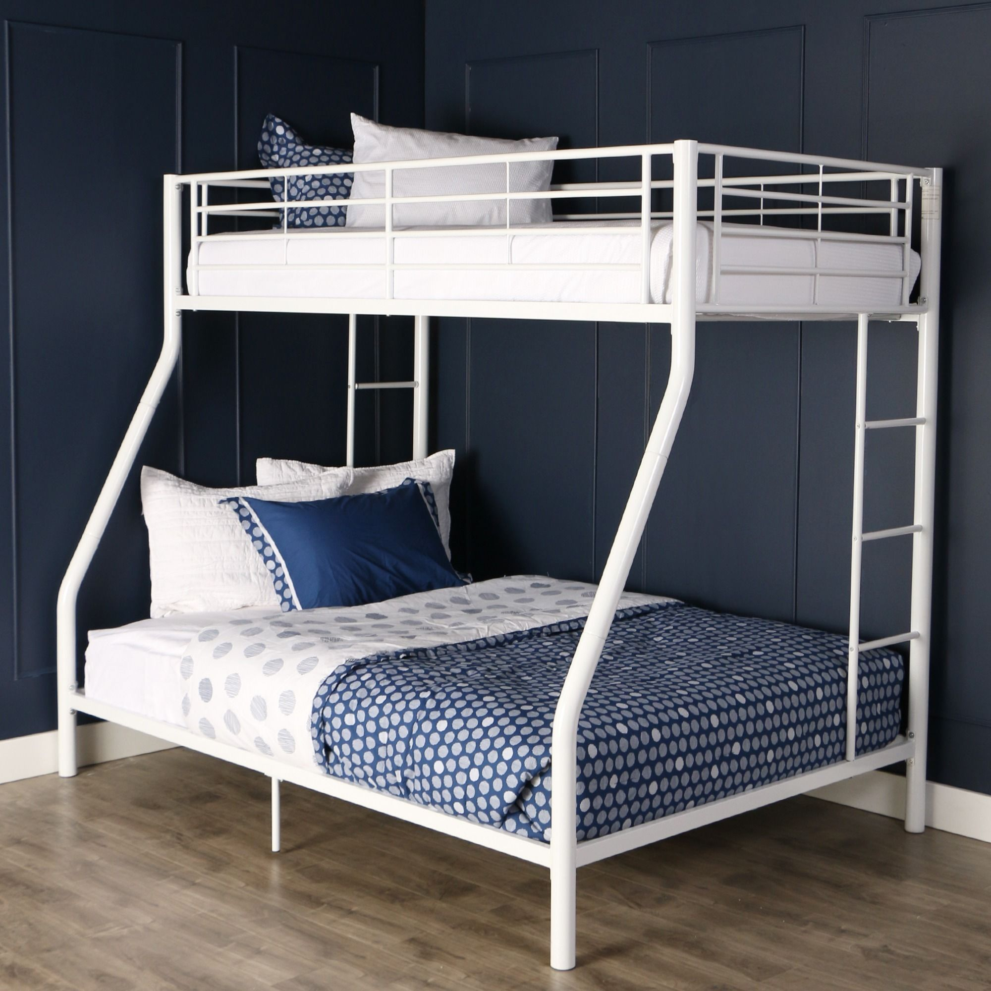 231cd1e91a2ed Taylor   Olive Abner White Metal Bunk Bed - Twin Over Full