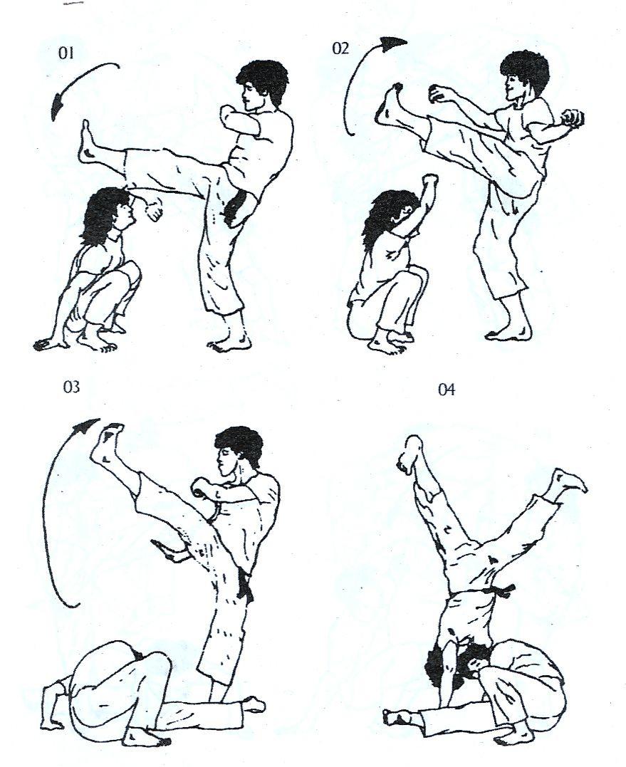 todos os tipos de golpes da capoeira