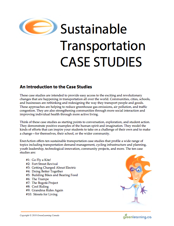Sustainable Transportation Case Studies  Education backgrounder and