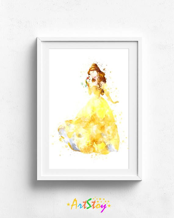 Disney princess art princess wall art princess art print   Weaver ...