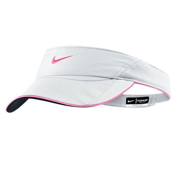 Nike Women S Featherlight Tennis Visor White Polarized Pink Nike Women Tennis Clothes