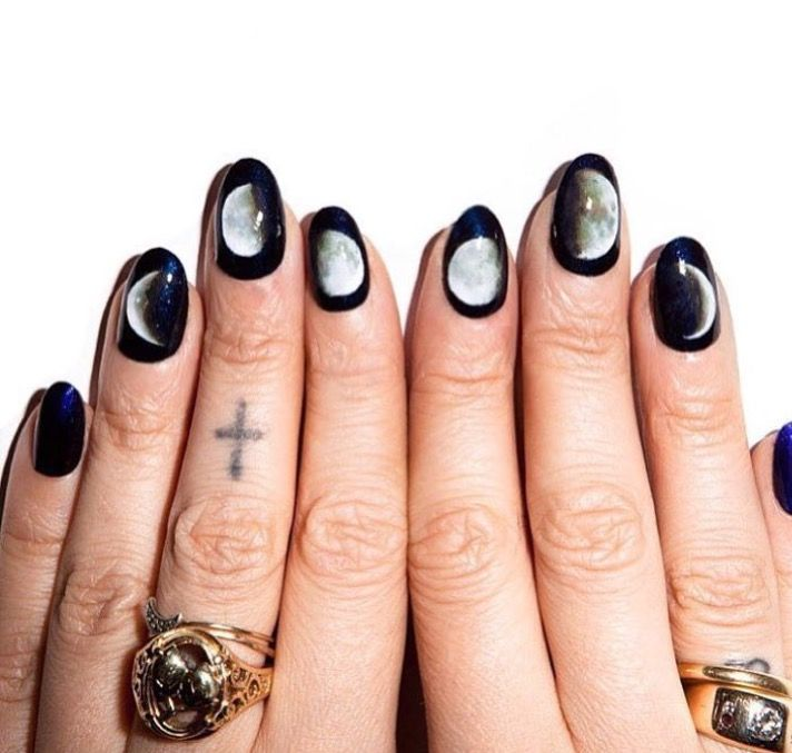 Phases of the moon. #NailArt | : painting party : | Pinterest | Nail ...