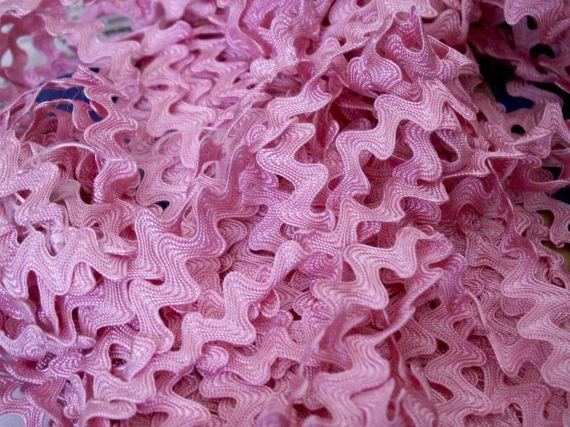 15.6 meters vintage pink rayon ric rac trim by OldPassionary