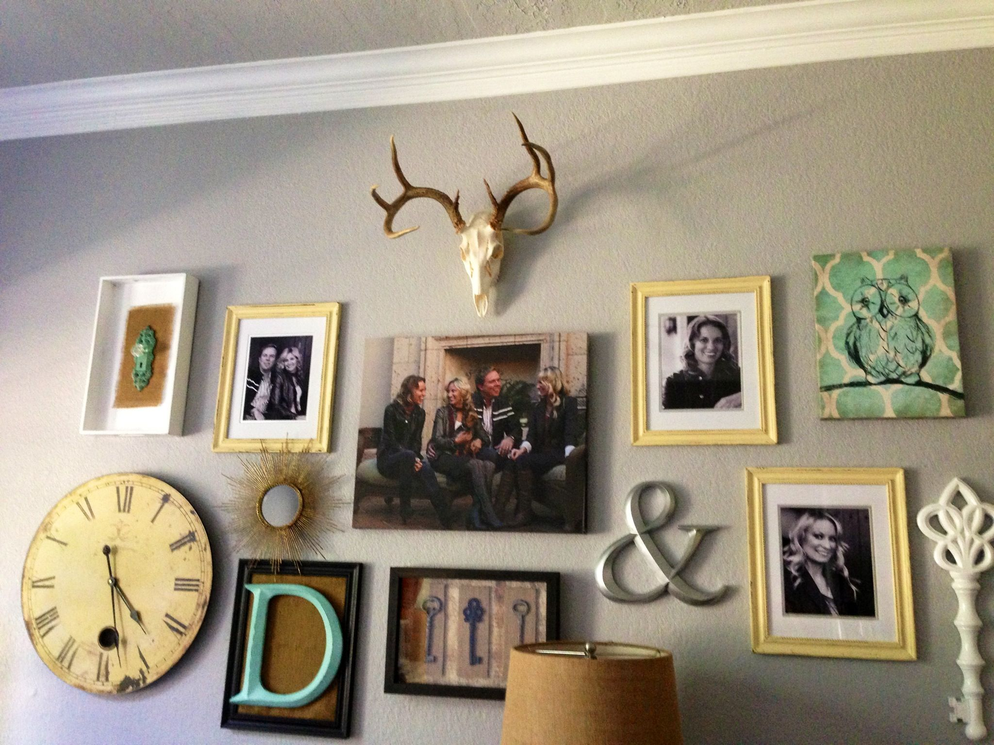 Eclectic Collage Wall In Our House. #DavenportRanch